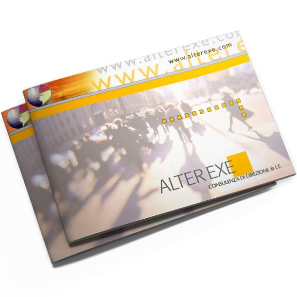 Studio grafico - Brochure aziendale - ALTEREXE SRL