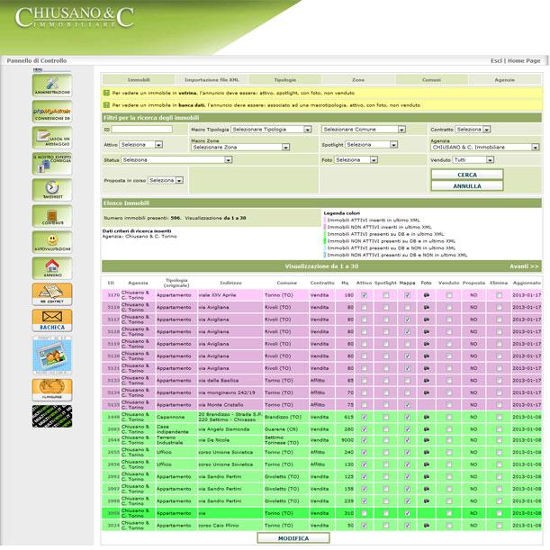 Web - Agenzia immobiliare CHIUSANO & C. SRL