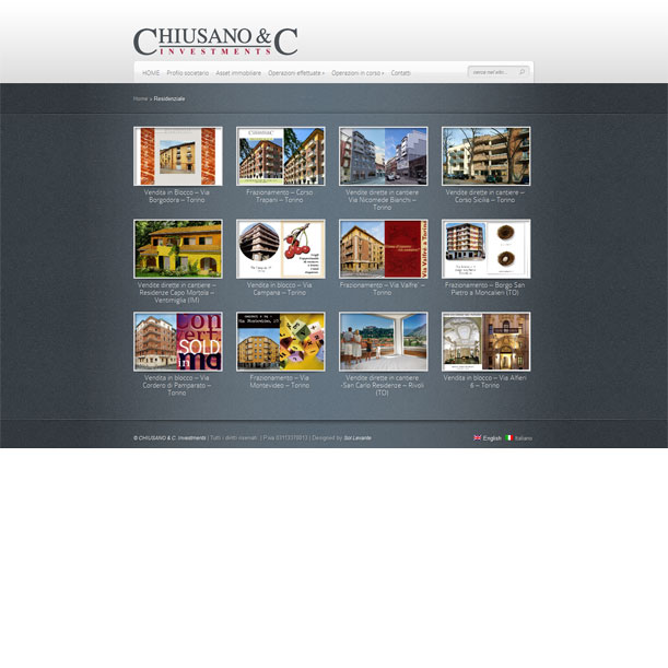 Sito Web - Chiusano Investments - Gallery