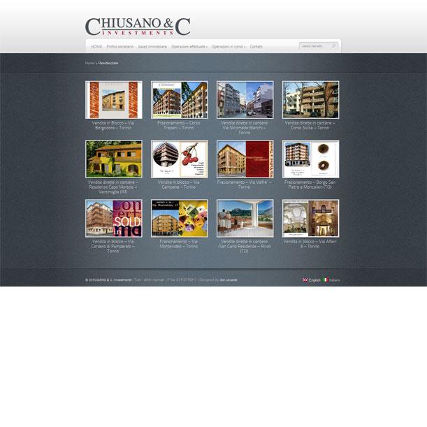 Sito Web - Chiusano Investments - Gallery