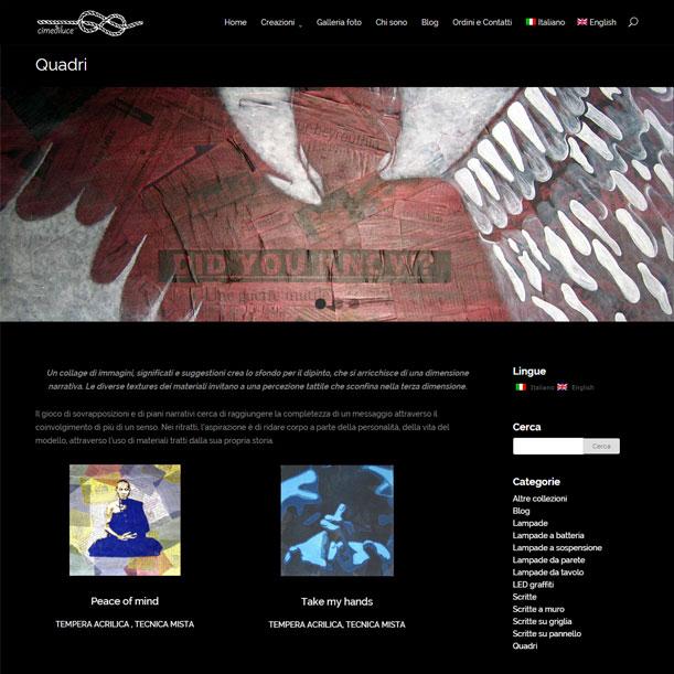 WEB - Cimediluce - Pagina quadri
