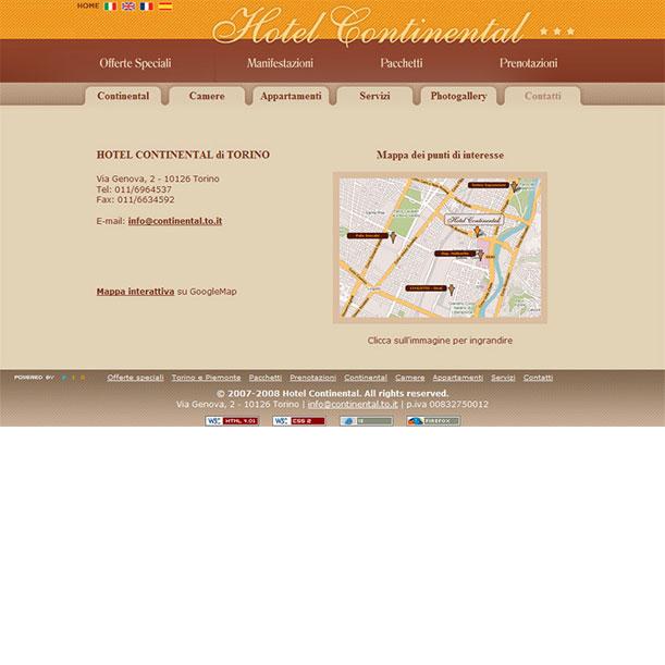 Sito web - HOTEL CONTINENTAL