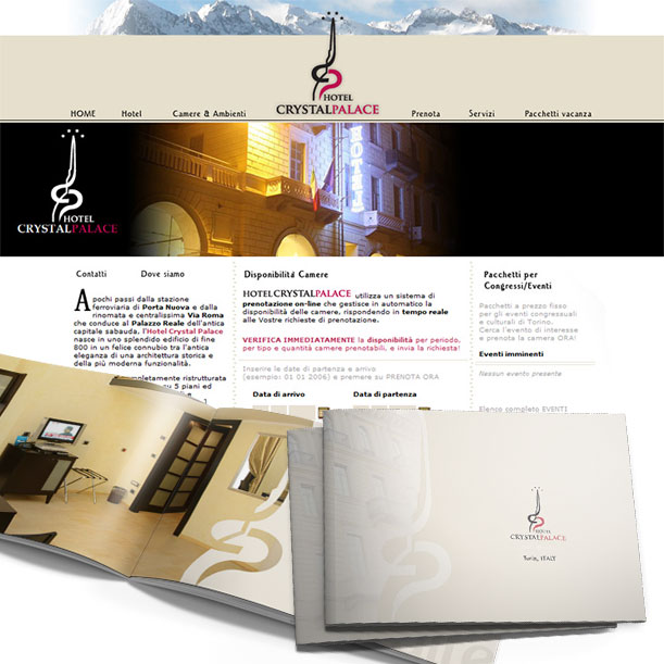 Studio grafico - Immagine coordinata - HOTEL CRYSTAL PALACE