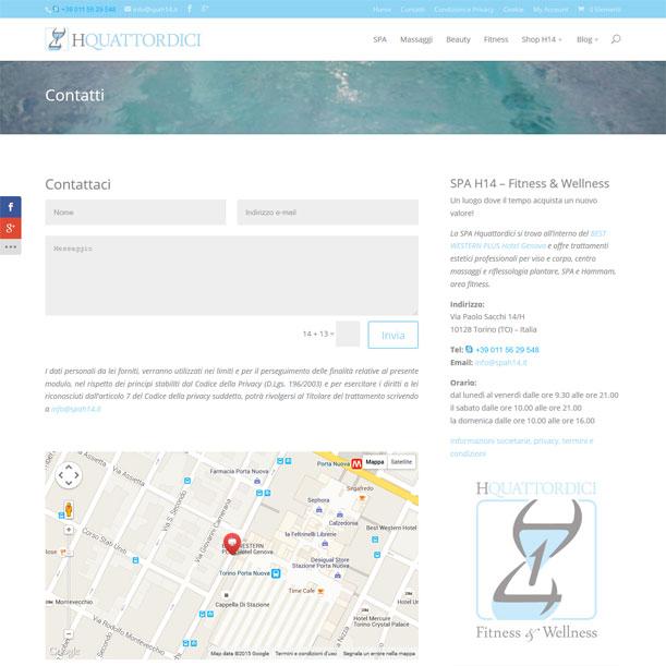 Sito Web - SPA H14 - Contatti