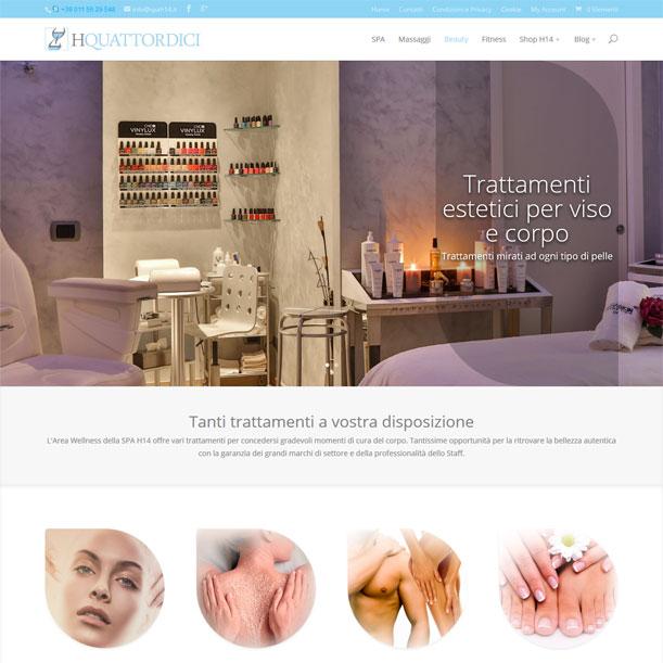 Sito Web - SPA H14 - Pagina area trattamenti estetici