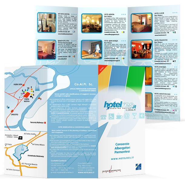 Studio grafico - Pieghevole - Hotelres