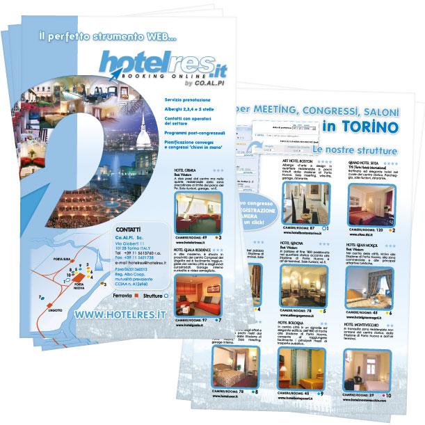 Studio grafico - Volantino - Hotelres
