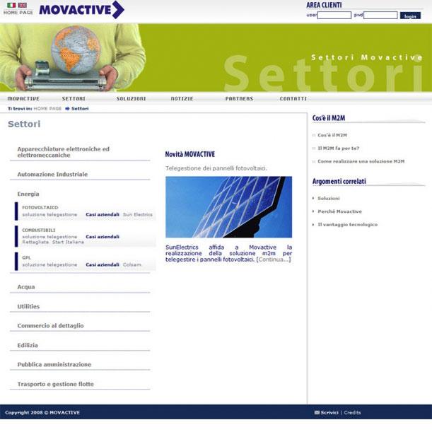 Sito Web - MOVACTIVE SPA - Servizi di telegestione e telecontrollo