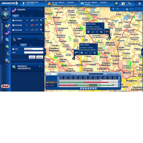 Piattaforma Web Unique - MOVACTIVE SPA - Interfaccia grafica dellapplicazione di telegestione e telecontrollo