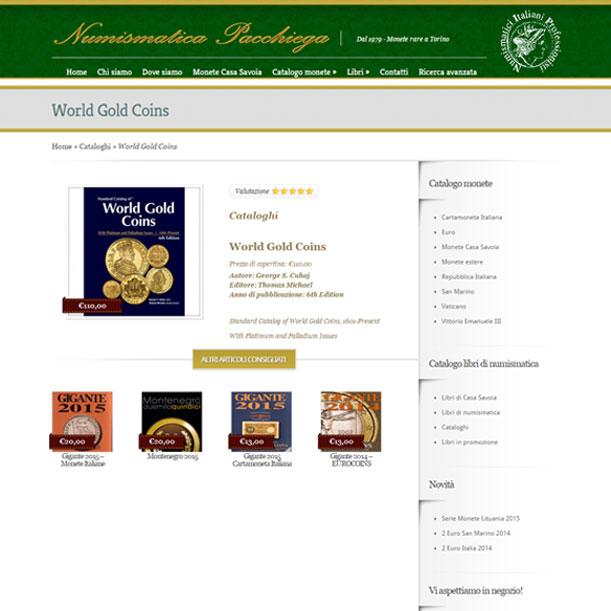 Sito Web - Numismatica Pacchiega - Pagina dettagli dell'articolo