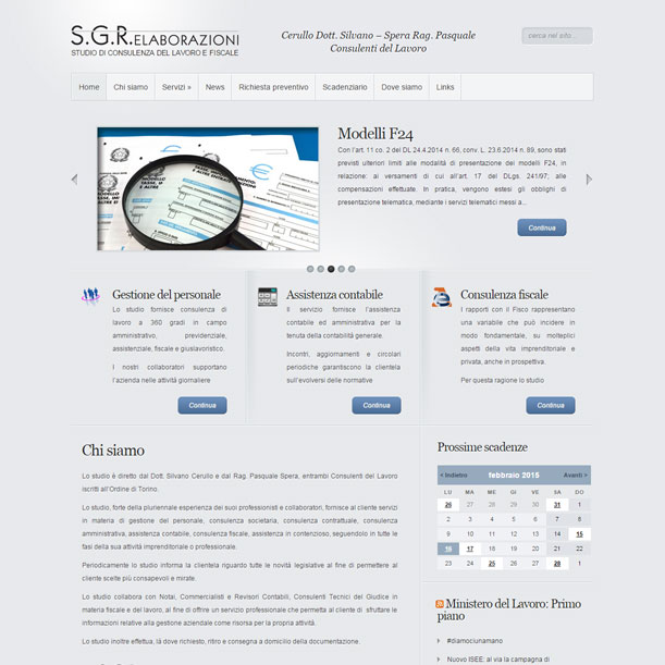Sito web - SGR Elaborazioni - Home Page