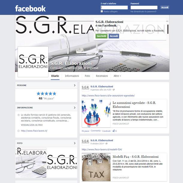 Sito web - SGR Elaborazioni - Pagina FaceBook