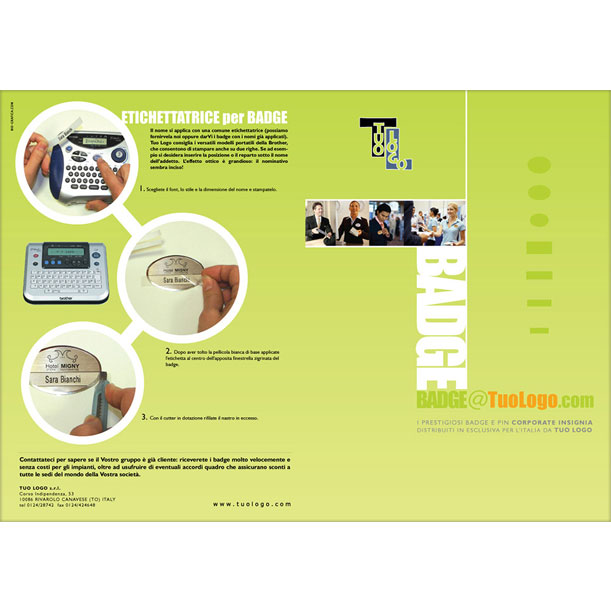 Studio grafico - Brochure - TUOLOGO SRL