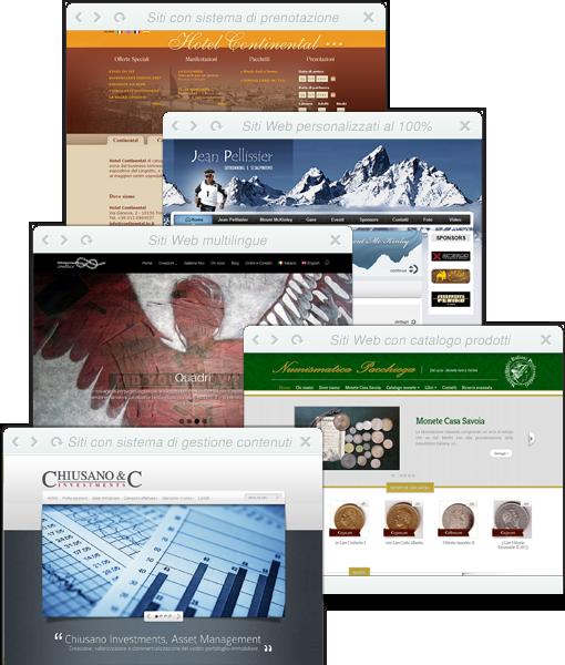Siti web personalizzati al 100%