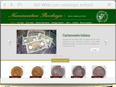 Sito web - Numismatica Pacchiega
