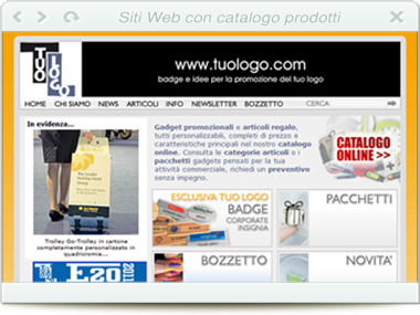 Web – Gadgets personalizzati - TUOLOGO srl